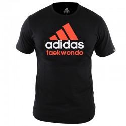 adidas Community T-Shirt Zwart/Oranje Taekwondo Extra Small
