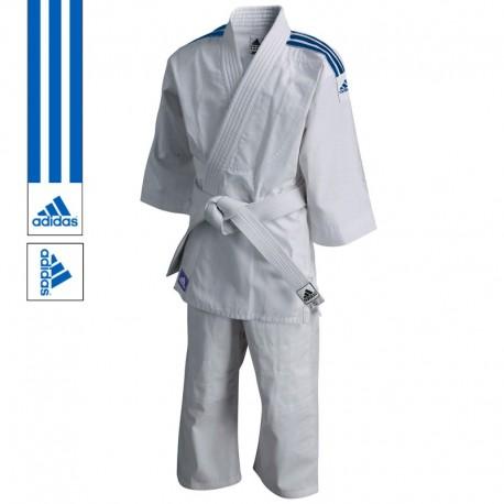 adidas Judopak J200 Evolution Wit/Blauw 100-110 cm