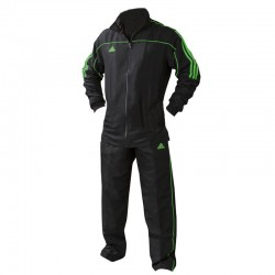 adidas Team Track Trainingsbroek Zwart/Groen 140