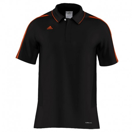 adidas MiTeam Team Polo Men Zwart/Oranje Extra Small