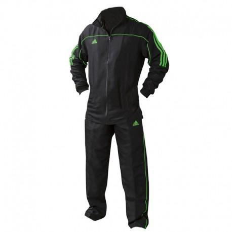 adidas Team Track Trainingsjack Zwart/Groen 140