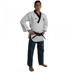Adidas Poomsae Taekwondopak Heren Wit/Donker Blauw 150cm