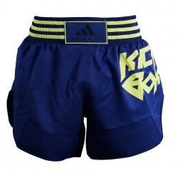 adidas Thai- en Kickboksshort Micro Diamond Geel/Blauw Large