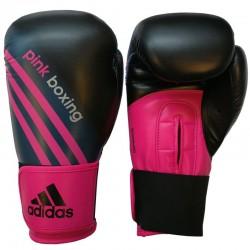 adidas (Kick)Bokshandschoenen Zwart/Shock Pink PinkBoxing 12 oz