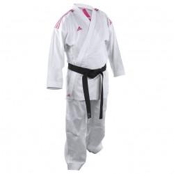 adidas Karatepak K220KF Kumite Fighter Wit/Roze Maat 140