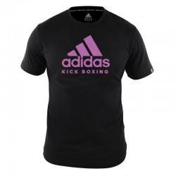 adidas T-Shirt Kickboxing Community Dames Zwart/Roze Medium