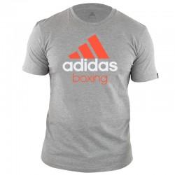 adidas Community T-Shirt Grijs/Oranje Boxing maat 164