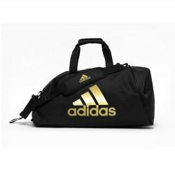 adidas Training Sporttas Polyester 2 in 1 Zwart/Goud Medium