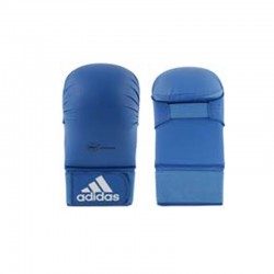 adidas WKF Karatehandschoen Zonder Duim Blauw Large