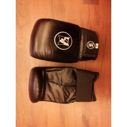 Boxing Bag Gloves Leather Black
