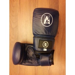 Boxing Bag Gloves Leather Blue