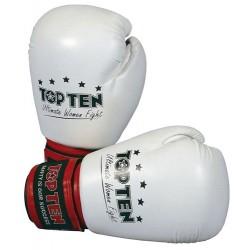 "Gloves ""Ultimate Women Fight"" white 10oz"