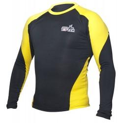Rash Guard TOP TEN MMA long sleeve black/yellow