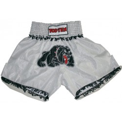 Thaiboxing short silver/Dog TOP TEN