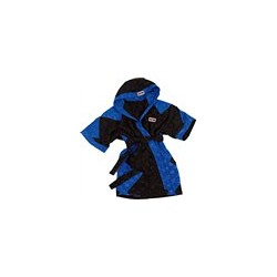 Boxing Robe black with zig zag blue