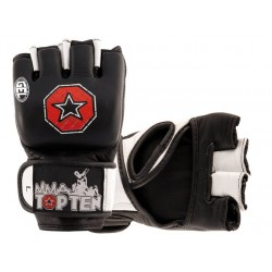 Grappling gloves TOP TEN MMA black, gel