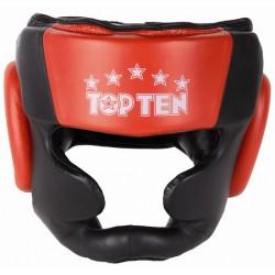 Headguard TOP TEN Sparring black/red