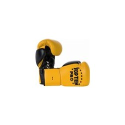 "Boxinggloves ""TOP TEN Pro"" - yellow/black 10oz"