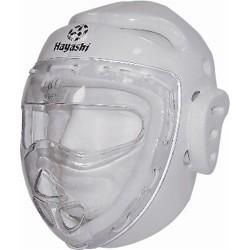 Headguard with mask HAYASHI, white