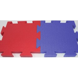 "Sportsfloor covering ""BASIC"" Trocellen red/blue, 1 m x 1 m x 2 c"