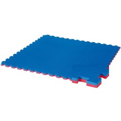 "Sportsfloor covering ""WKF recognized"" red/blue, 1 m x 1 m x 2 cm"