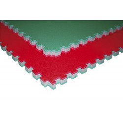 """JUDO DOUBLE"" TROCELLEN red/green 1mx1mx4,0cm"