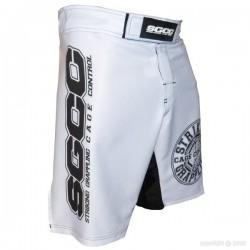"Short MMA ""Thunder"" blanc"