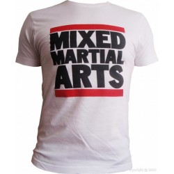 T-Shirt  Mixed martial arts blanc
