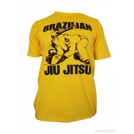 T-Shirt Brazilian Jiu-Jitsu jaune