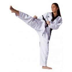 Taekwondo Uniform Revolution Black Mesh Kwon