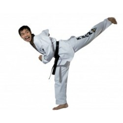 Starfighte TKD uniform with black lapel Kwon