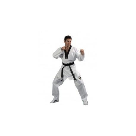 Dobok Taekwondo Starfighter, col noir Kwon Budo House