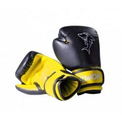 """Boxing gloves """"Mini-Shark"""" 4 oz Black/Yellow Kwon"""