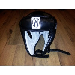 BUDO HOUSE HEAD GUARD OPEN PROTECTION LEATHER CE