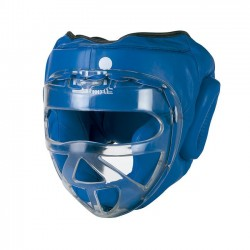 Head Guard with transparent mask Leather