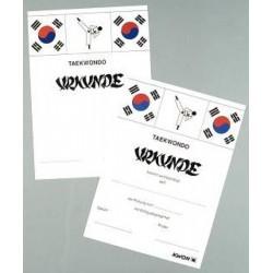 Examination certificates Taekwondo