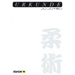 Certificate Ju Jutsu pre-printed