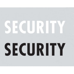 "Print ""Security"" in Black"