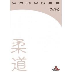 Certificate Judo white