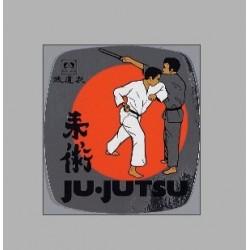 Autocollants PVC Combat Ju-Jutsu metallique Danrho