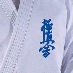Embroidering Kyokushin, blue Danrho