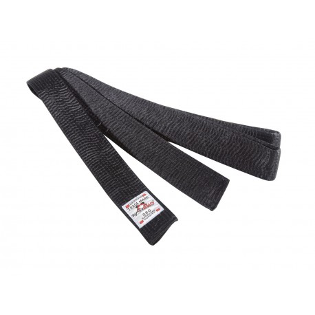 Budo belt in black rayon Danrho