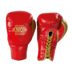 Professional Boxing Glove genuine leather with laces Kwon