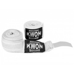 Bandages KWON boxe professionnelle inélastique, blanc Kwon
