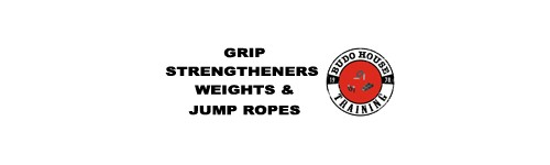 Grip Strengtheners, weights and jump ropes