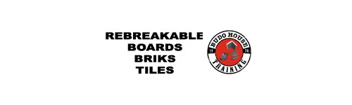 Rebreakable boards, briks and tiles